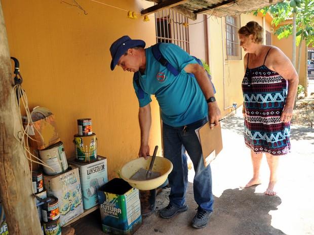 Mutirão contra a proliferação do mosquito da dengue em Limeira (Foto: Eduardo Zanzirolamo/Prefeitura de Limeira)
