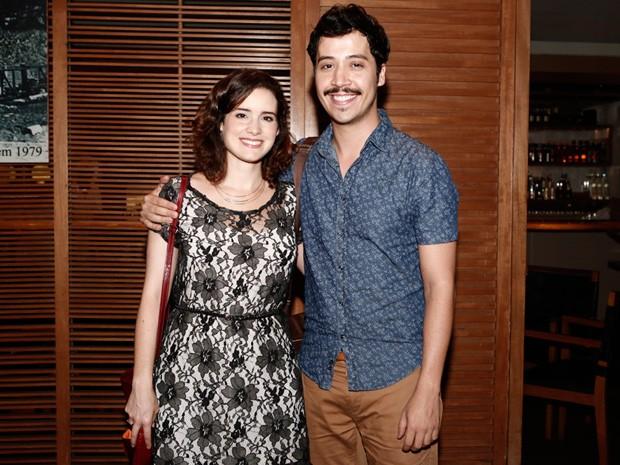 Elisa Pinheiro e Arlindo Lopes posaram juntos para a foto (Foto: Inácio Moraes/Gshow)