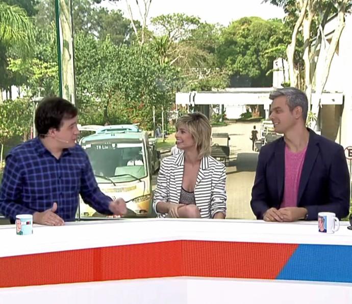 Julianne falou do estilo dela para os apresentadores (Foto: TV Globo)