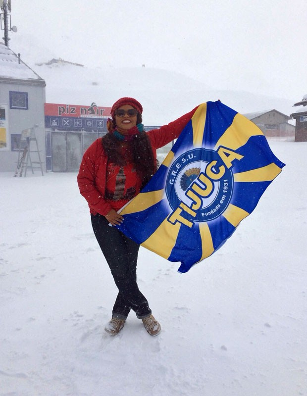 Atriz é rainha de bateria da Unidos da Tijuca (Foto: Arquivo Pessoal)