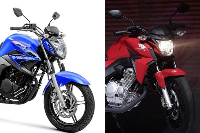 Yamaha Fazer 250 e Honda CB Twister