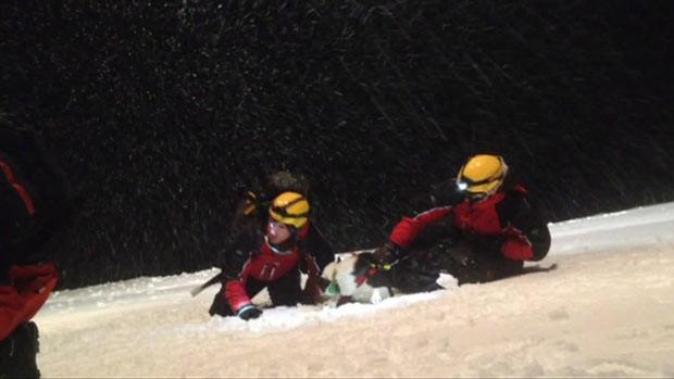 O britânico Ollie Daniel durante o resgate (Foto: Arquivo pessoal)