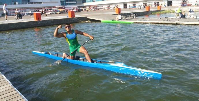 Isaquias Queiroz no Mundial de Moscou (Foto: Reprodução/Facebook)
