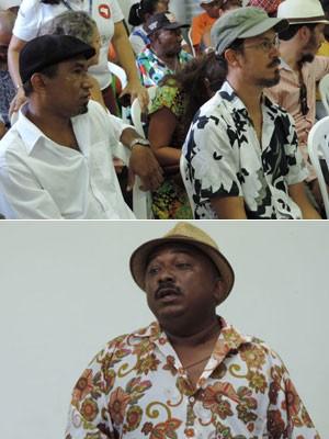 Maciel Salú, Siba e Manoelzinho Salustiano participaram da audiência, nesta quarta (Foto: Luna Markman / G1)