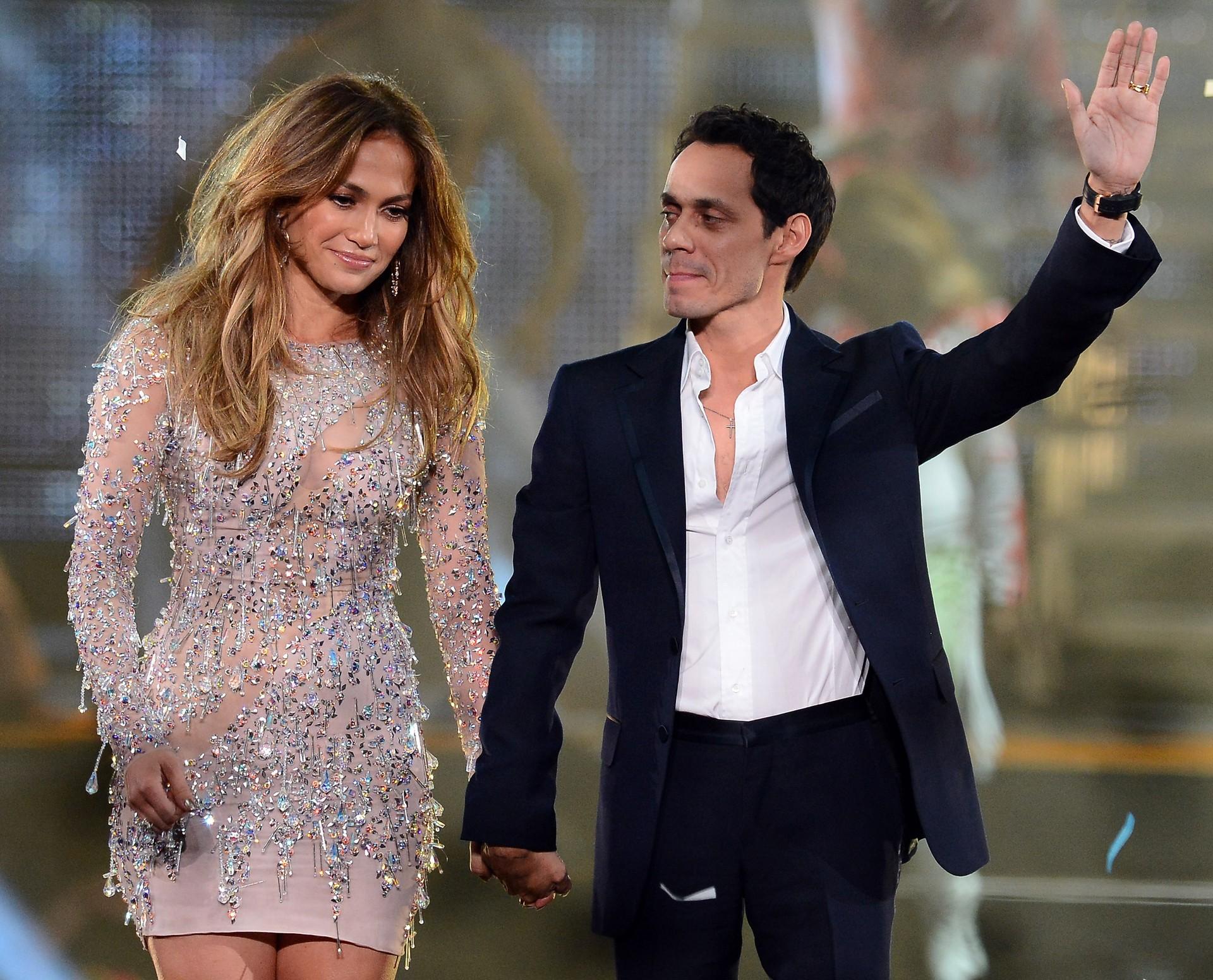 Os dois surpreenderam a todos quando anunciaram que o casamento seria em 5 de Junho de 2004 na casa de Lopez em Beverly Hills.  (Foto: Getty Images)