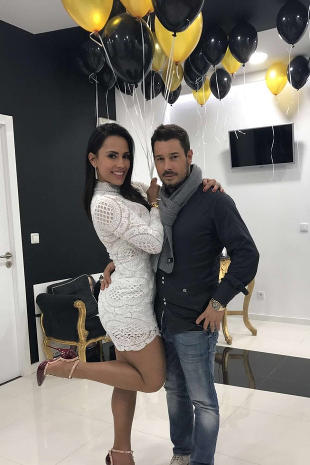 Kelly Medeiros e o amarido, o português Marco Antônio (Foto: Arquivo pessoal)