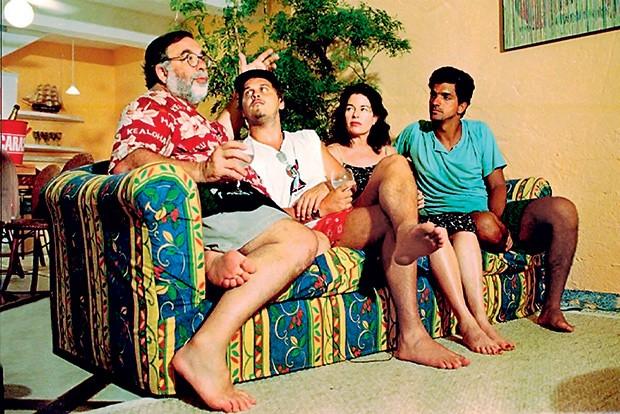 DINHEIRO? NÃO  O diretor Francis Ford Coppola com Guilherme Fontes, no Brasil. O  americano  declinou da parceria,  apesar de paparicado (Foto: Bel Pedrosa/Folhapress)