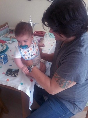 Paulo Ricardo com a filha mais nova Diana (Foto: Arquivo pessoal)