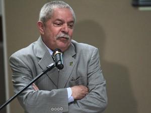 O ex-presidente Luiz Inacio Lula da Silva, durante discurso no Ministério do Desenvolvimento Social (Foto: Ueslei Marcelino/Reuters)