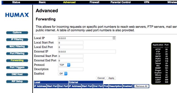 Acesse a opção Port Forwarding no seu roteador (Foto: Reprodução/Paulo Alves)