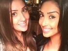 Ex-BBBs Tamires e Amanda se divertem em São Paulo