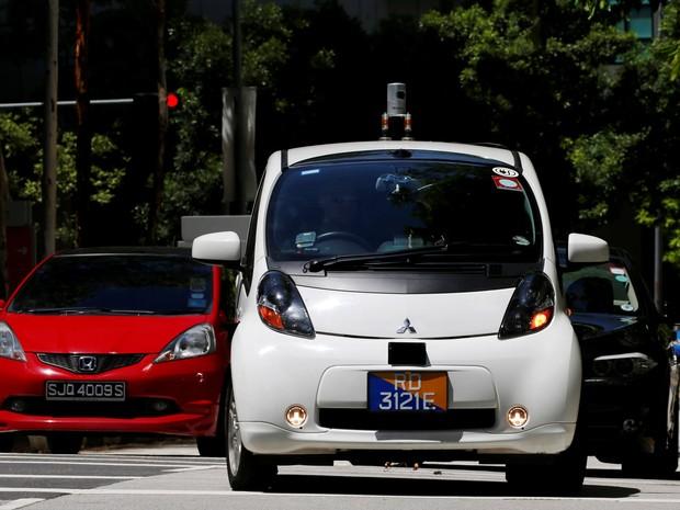Empresa começa a testar robô-táxis em Cingapura (Foto: REUTERS/Edgar Su)