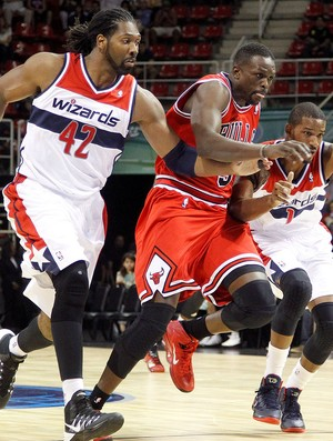 Nenê basquete jogo NBA Bulls x Wizards (Foto: Marcelo Carnaval / Ag. O Globo)