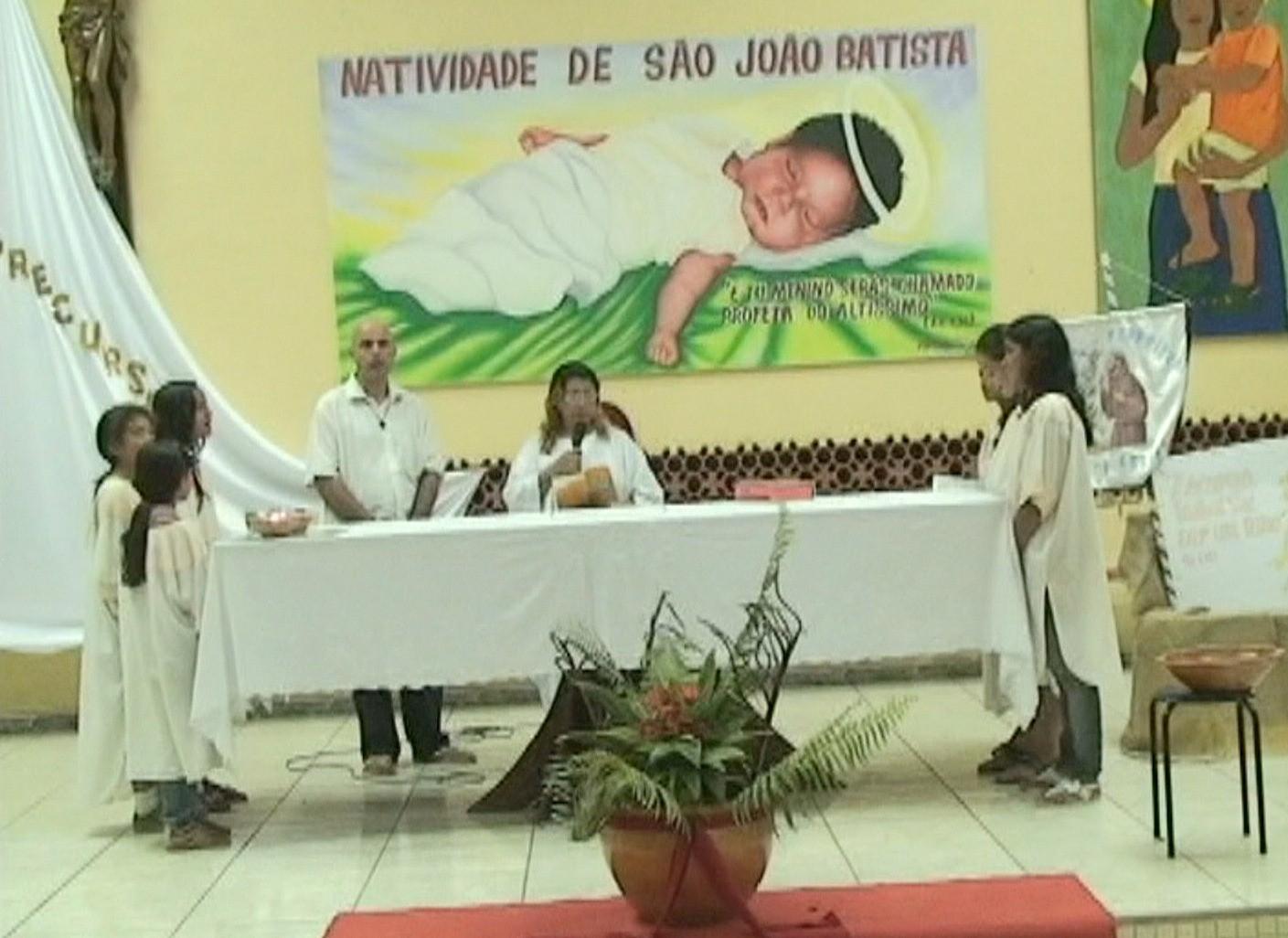 Igreja de São João Batista será reformada com o dinheiro arrecadado no evento (Foto: Amazônia TV)