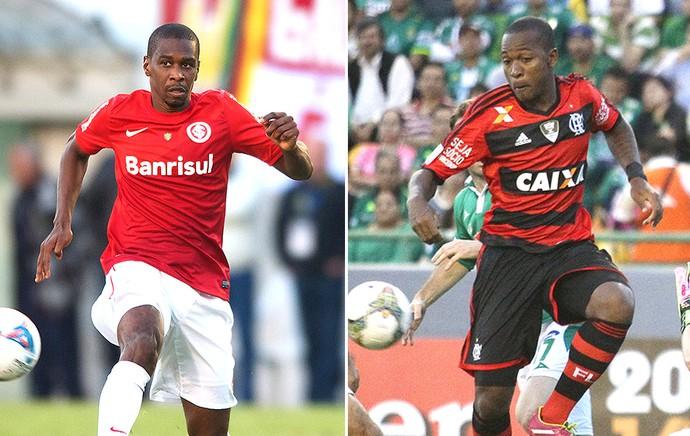 montagem Juan e Samir Flamengo (Foto: Editoria de Arte)