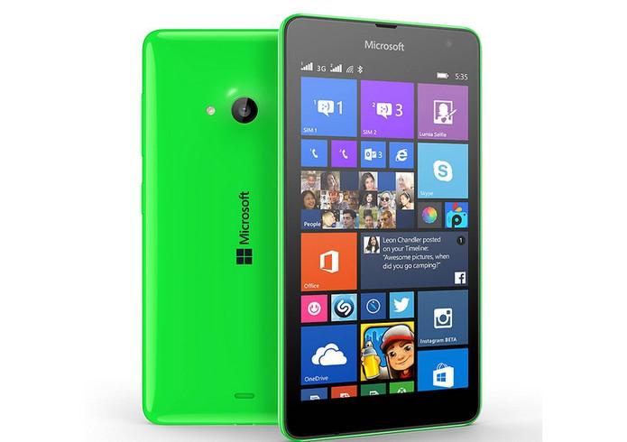 Lumia 535 e 730 oferecem câmera selfie frontal (Foto: Divulgação/Microsoft)