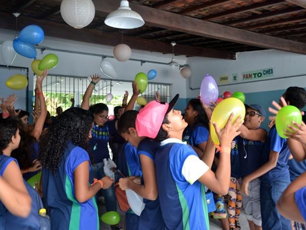 Diversas dinâmicas envolveram a primeira semana de atividades do ECE-Jaboatão (Foto: Divulgação)