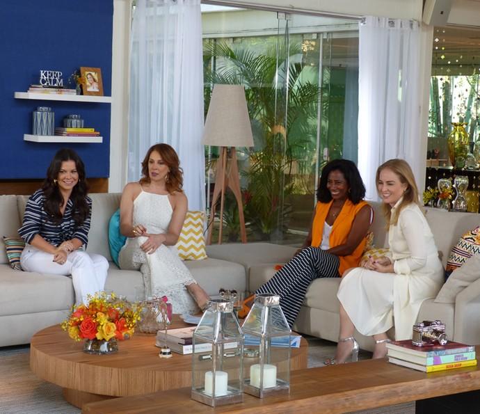 Fernanda Souza, Claudia Raia, Glória Maria e Angélica (Foto: Gabriela Bispo/Gshow)