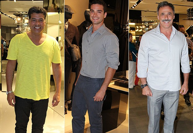 Mauricio Mattar, Sidney Sampaio e Oscar Magrini (Foto: Marcello Sá Barretto/ Foto Rio News e Roberto Filho/Agnews)