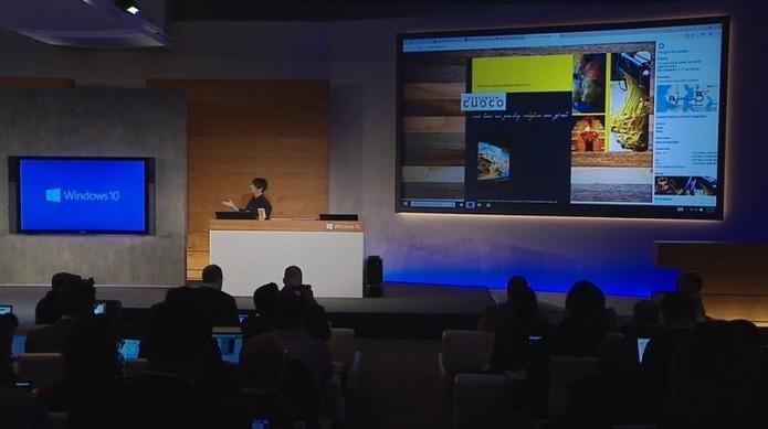 Cortana ajuda na navegação de usuário (Foto: Reprodução / Laura Martins)