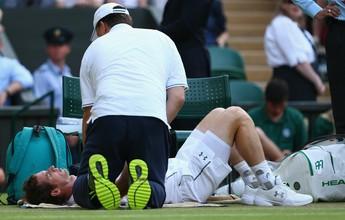 Murray cresce após pedir atendimento médico, bate italiano e está nas oitavas