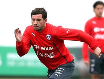 Mena treino Chile (Foto: Efeservicios)