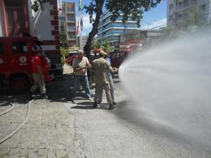 Técnicas de combate foram ensinadas (Foto: Blog Repórter Eduander Silva)