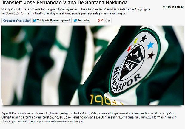 Clube turco anuncia contratação de Fernandão, do Bahia (Foto: Reprodução)