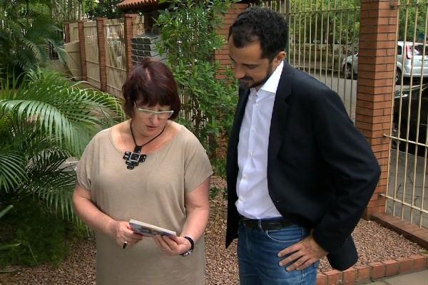 Briga de vizinhos é tema de reportagem do Teledomingo (Foto: Reprodução/RBS TV)