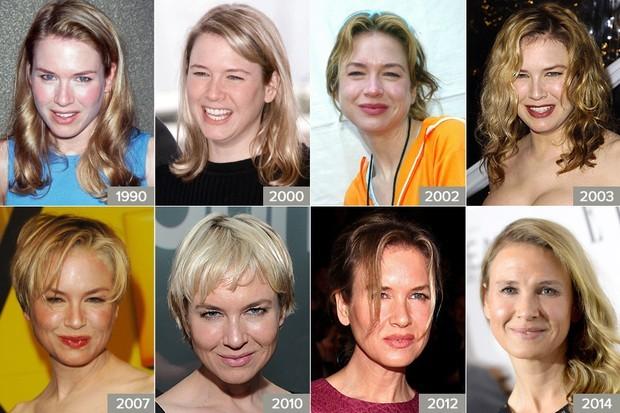Renné Zellweger de 1990 a 2014 (Foto: AFP/Getty Images)