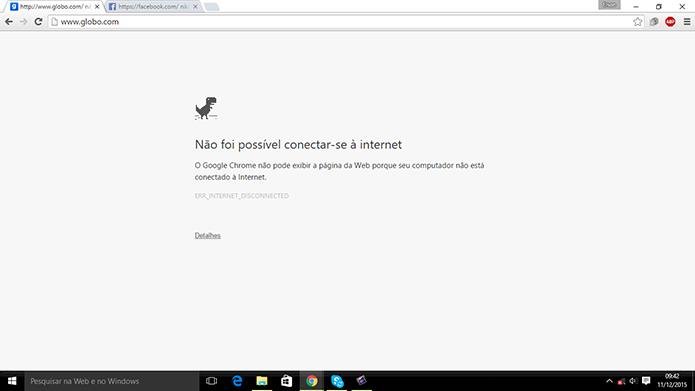 Usuário pode mudar a forma como Chrome lida com páginas em carregamento offline (Foto: Reprodução/Elson de Souza)