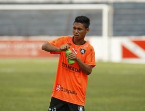 Thiago Cametá retornou aos treinos no Remo (Foto: Marcelo Seabra / O Liberal)