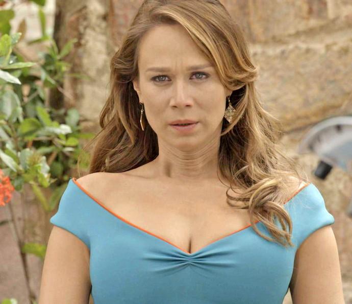 A feirante não esperava reencontrar o ex  (Foto: TV Globo)