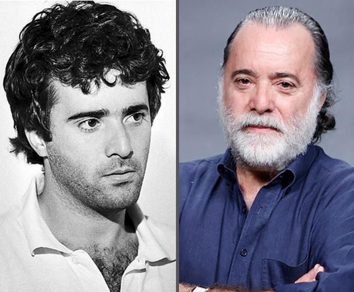 Tony Ramos, em 1977, na época de 'O Astro', e em foto recente (Foto: TV Globo / Ellen Soares/TV Globo)
