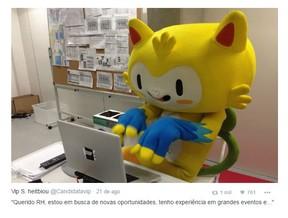 Vinícius desempregado (Foto: Reprodução/Twitter)