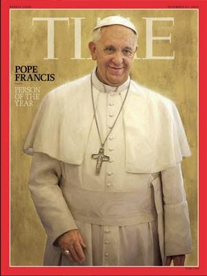 Papa Francisco foi eleito a pessoa do ano pela revista 'Time' (Foto: Reprodução/Time)