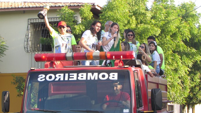 Amandinha, futsal, cearense, campeã, mundial (Foto: Juscelino Filho)