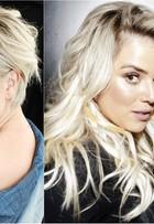 Natallia Rodrigues muda o visual e exibe cabelos longos e platinados