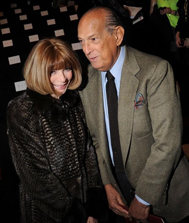 Oscar de la Renta com a amiga Anna Wintour em 2012.  (Foto: Getty Images)