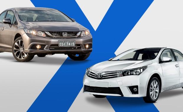 Honda Civic LXR versus Toyota Corolla XEi (Foto: Autoesporte)