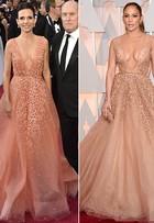 Jennifer Lopez e mulher de Robert Duvall usam looks parecidos no Oscar