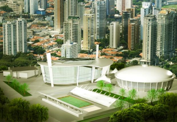 Projeto do Complexo do Ibirapuera após modernização (Foto: Divulgação Governo do Estado de São Paulo)
