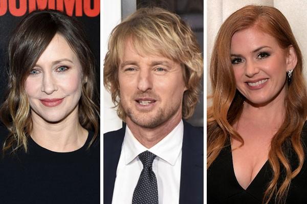 Vera Farmiga, Owen Wilson e Isla Fisher já usaram dublê de corpo para trabalhos na carreira (Foto: Getty Images)