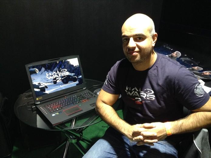 Graeme Jennings, produtor de Halo Wars 2 (Foto: Reprodução/Felipe Vinha)