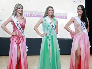 Miss Tocantinópolis, Miss Araguaína e Miss Palmas foram as finalistas (Foto: Manuel Espitia/Miss Tocantins)