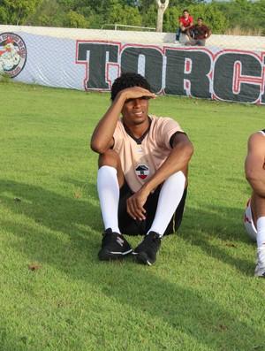 Robinho, goleiro do River-PI (Foto: Wenner Tito/GLOBOESPORTE.COM)