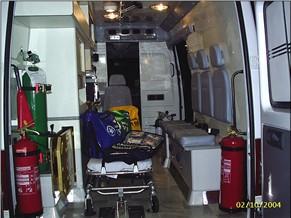 Interior da Ambulância (Foto: Ascom/Ministério da Saúde)