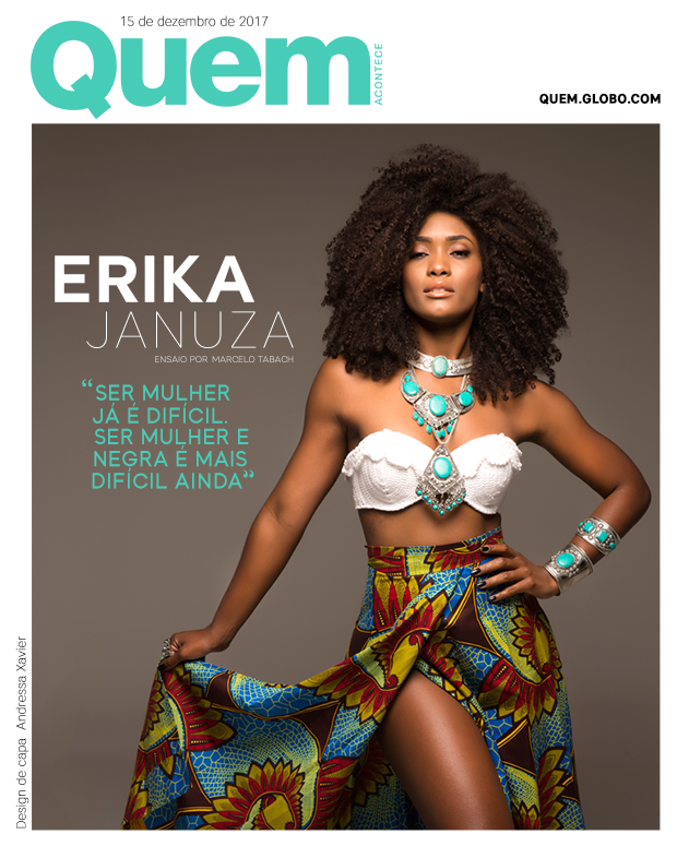 Erika Januza Capa (Foto: Marcelo Tabach/ Design: Andressa Xavier)