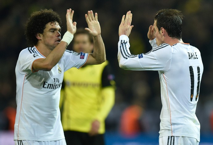 Pepe e Bale, Borussia Dortmund x Real Madrid (Foto: Getty Images)