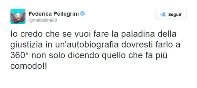 Federica Pellegrini natação twitter (Foto: Reprodução)
